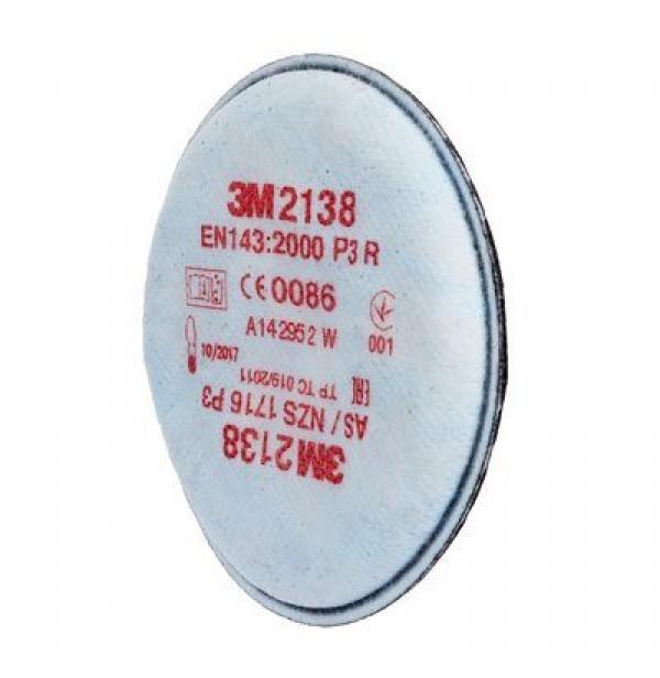 Фильтр противоаэрозольный 3М, модель 2138 класс защиты P3, 80 шт/кор